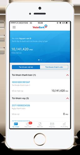 mobi app internet banking của vietin bank